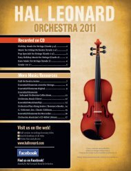 Recorded on CD More Music/Resources Visit us on ... - Hal Leonard
