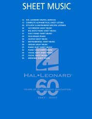 SHEET MUSIC - Hal Leonard