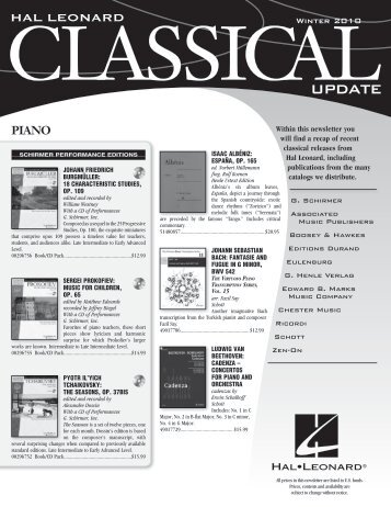 2010 Winter Classical Update - Hal Leonard