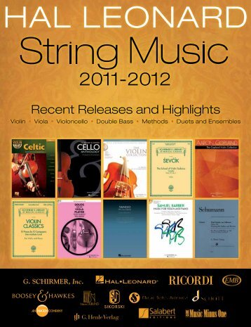 Download a pdf of the brochure - Hal Leonard