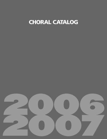 CHORAL CATALOG - Hal Leonard