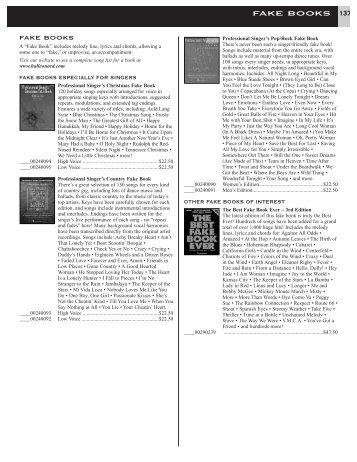 FAKE BOOKS 137 - Hal Leonard