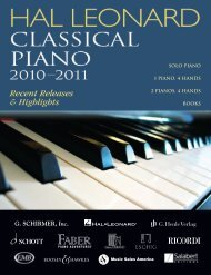 solo literature by composer - Hal Leonard