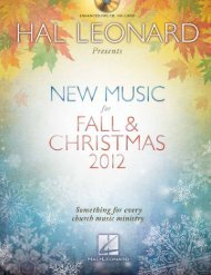 New Music Fall & christMas 2012 - Hal Leonard