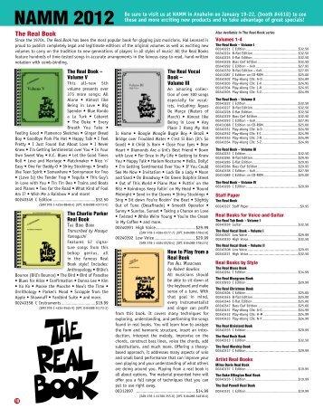 NAMM 2012 - Hal Leonard