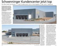 Schwenninger Kundencenter jetzt top - Haller Industriebau GmbH