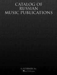 We are pleased to present our Catalog of Russian ... - Hal Leonard