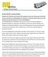Aufsichtsräte verabschiedet - Haller Industriebau GmbH