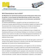 Wird Gewerbesteuer doch erhöht? - Haller Industriebau GmbH