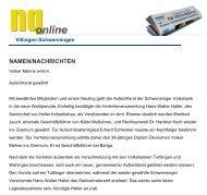 NAMEN/NACHRICHTEN - Haller Industriebau GmbH