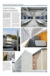 Kubischer Neubau ergänzt alten Bestand - Haller Industriebau GmbH