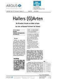 Hallers (G)Arten, Der Gartenbau, 10.4.2008 - Albrecht von Haller ...