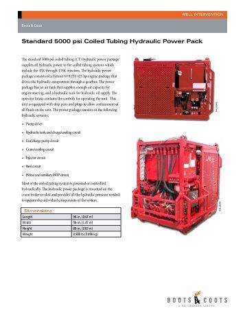 Standard 5000 psi Coiled Tubing Hydraulic Power Pack - Halliburton