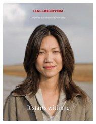 2007 Corporate Sustainability Report - Halliburton