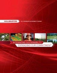 2011 Corporate Sustainability Report - Halliburton