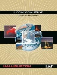 Unconventional Reserves - Halliburton