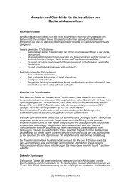 Hinweise und Checkliste für die Installation von ... - Wohlrabe.info