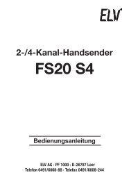 FS20 S4 - ELV