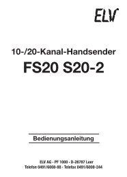 FS20 S20-2 - ELV