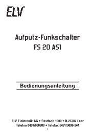 Bedienungsanleitung - Wohlrabe.info