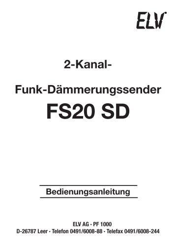FS20 SD - ELV