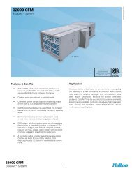 32000 CFM Spec Sheet - Halton Company
