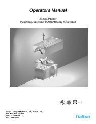 Operation and Maintenance Manual - Halton Company