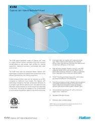 Capture Jet® Hybrid Backshelf Hood - Halton Company