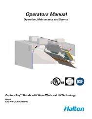 Operators Manual - Halton Company
