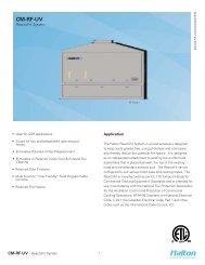 CM-RF-UV - Halton Company