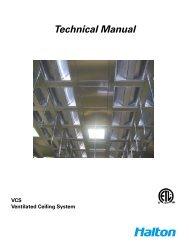 Ventilation Ceiling Technical Manual - Halton Company