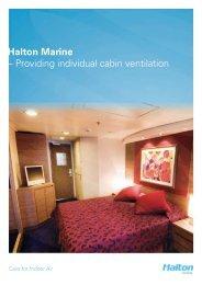 Halton Marine – Providing individual cabin ventilation