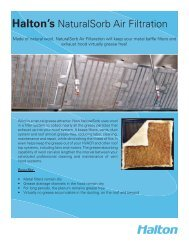 Halton's NaturalSorb Air Filtration - Halton Company