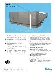 HRU8 Spec Sheet - Halton Company