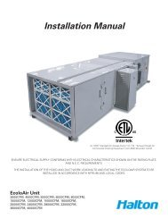 Installation Manual - Halton Company