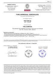 TYPE APPROVAL CERTIFICATE - Halton