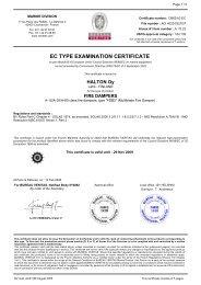 EC TYPE EXAMINATION CERTIFICATE - Halton