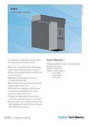 KVS-C - Kiosk Ventilation Systems - Halton