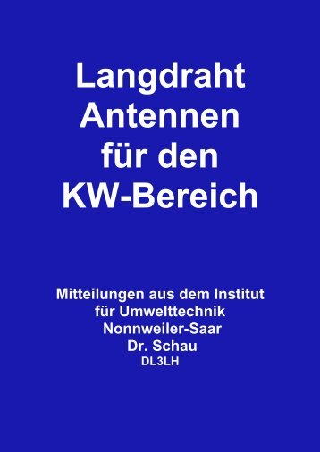 Langdraht Antennen DL3LH - HAM-On-Air