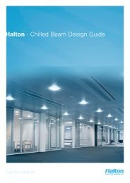 Halton - Chilled Beam Design Guide