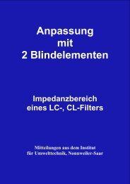 Impedanzbereich eines LC-, CL-Filters - HAM-On-Air