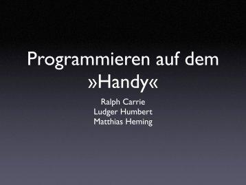 Programmieren auf dem »Handy«