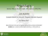 Kryptologie - Seminar Didaktik der Informatik – Wintersemester 2012 ...