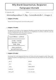 Grundkurs Informatik - 11. Jahrgang - 2006/2007