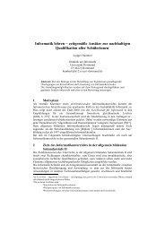 Informatik lehren − zeitgemäße Ansätze zur nachhaltigen ...
