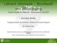 Lehramt Informatik – Berufswahl und Bildungsgang - Seminar ...