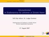 Informatikmittel im Studienseminar - 2007