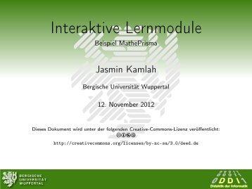 Interaktive Lernmodule - Beispiel MathePrisma