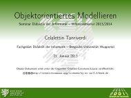 Objektorientiertes Modellieren - Seminar Didaktik der Informatik ...