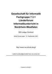 Gesellschaft f ¨ur Informatik Fachgruppe 7.3.1 L¨anderforum ...